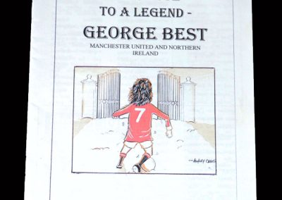 United Review Collectors Club George Best Tribute