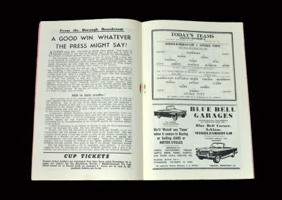 Middlesbrough v Stoke 08.12.1962