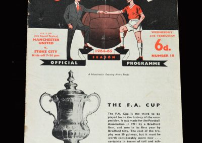 Stoke v Man Utd 03.02.1965 - FA Cup 4th Round Replay