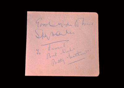 Betty and Stan Signatures