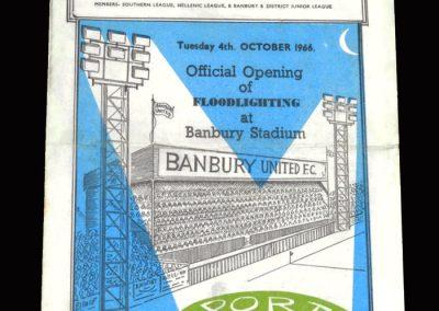 Banbury Utd v Port Vale 04.10.1966