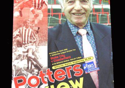 Stoke v Chesterfield 04.03.2000 - Stan Matthews Tribute