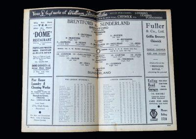 Brentford v Sunderland 23.01.1937