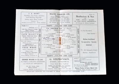 Bishop Auckland v Norton Woodseats 12.01.1957 - FA Amateur Cup 1st Round