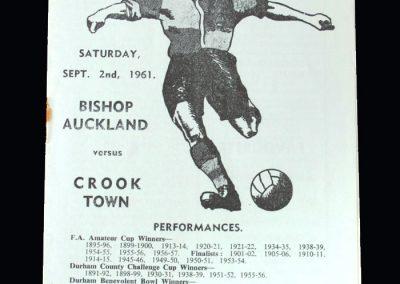 Bishop Auckland v Crook 02.09.1961
