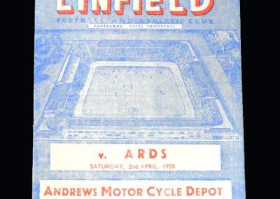 Linfield v Ards 02.04.1955