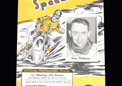 Coventry v Leicester 02.04.1955 - Speedway