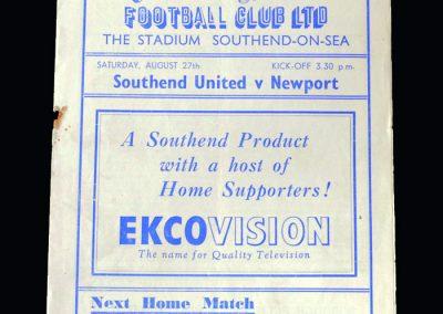Southend v Newport 27.08.1949