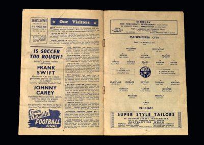 Man City v Fulham 10.09.1949