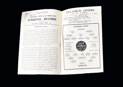 Blackburn v Brentford 19.09.1949