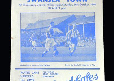 Sheff Wed v Swansea 29.10.1949