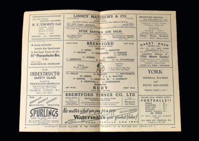 Brentford v Bury 24.12.1949