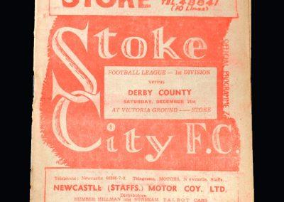 Stoke v Derby 31.12.1949