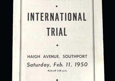 North v North Midlands 11.02.1950 (Schools Match)