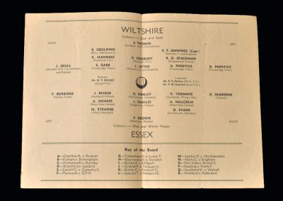 Wiltshire v Essex 11.03.1950 - Youth Match