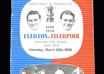 Everton v Liverpool 25.03.1950 - FA Cup Semi Final