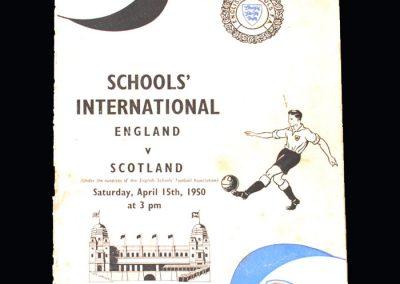 England Schools v Scotland Schools 15.04.1950