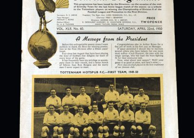 Spurs v Grimsby 22.04.1950 (Champions Special)