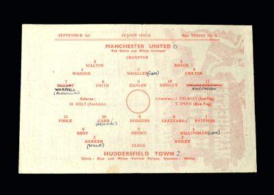 Man Utd v Huddersfield 01.09.1945