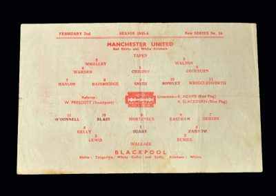 Man Utd v Blackpool 02.02.1946