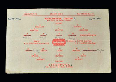 Man Utd v Liverpool 09.02.1946