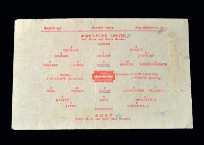 Man Utd v Bury 02.03.1946