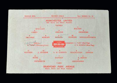 Man Utd Bradford PA 30.03.1946