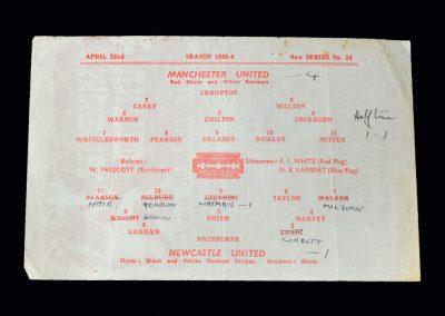 Man Utd v Newcastle Utd 22.04.1946