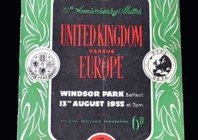 UK v Europe 13.08.1955