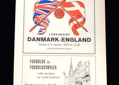 England v Denmark 02.10.1955