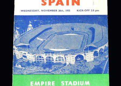 England v Spain 30.11.1955
