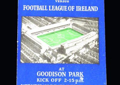 English League v Irish League 07.12.1955