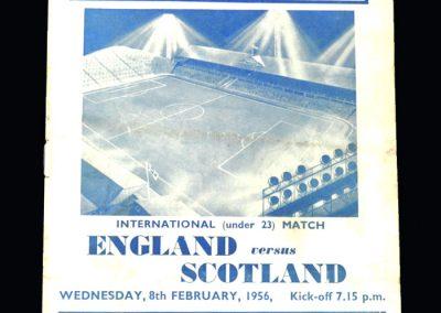 England U23 v Scotland U23 08.02.1956