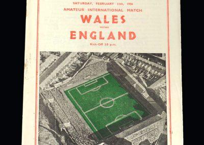 Wales v England 11.02.1956 (Amateur)