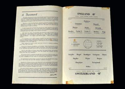 England B v Switzerland B 21.03.1956