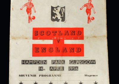 Scotland v England 14.04.1956 (Pirate)