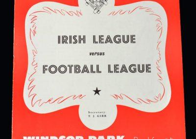 Irish League v English League 25.04.1956