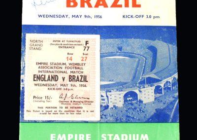 England v Brazil 09.05.1956