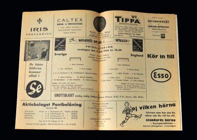 England v Sweden 16.05.1956
