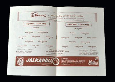 England v Finland 20.05.1956