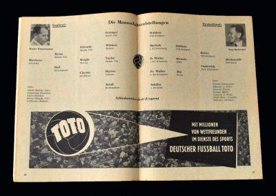 England v Germany 26.05.1956