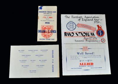 England v S Transvaal 12.05.1956 | England Tour of South Africa Fixture Card