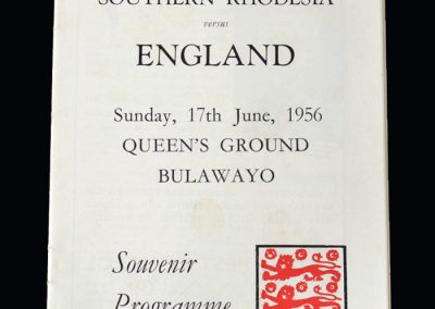 England v Southern Rhodesia 17.06.1956