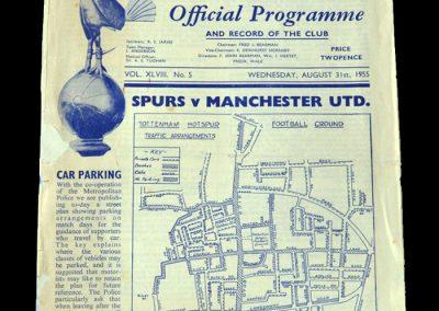 Man Utd v Spurs 31.08.1955