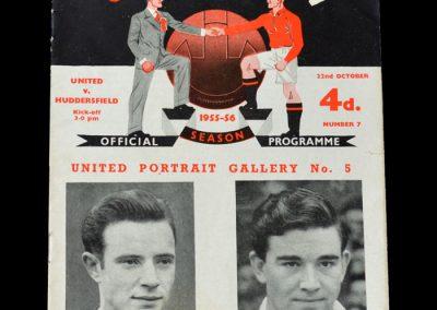 Man Utd v Huddersfield 22.10.1955