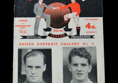 Man Utd v Birmingham 17.12.1955