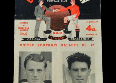 Man Utd v Sheff Utd 14.01.1956