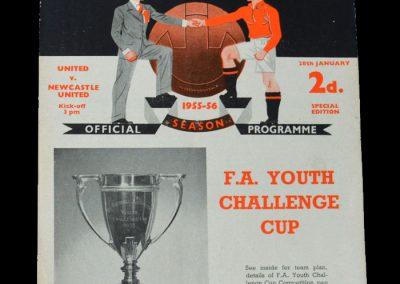 Man Utd Youth v Newcastle Youth 28.01.1956