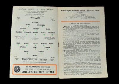 Man Utd v Wolves 18.02.1956