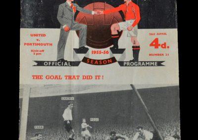 Man Utd v Portsmouth 21.04.1956